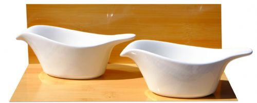 White Arctic Bird dishes 13.5cm X2- GOTO